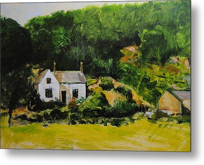 Cottage In Wales Metal Print by Harry Robertson