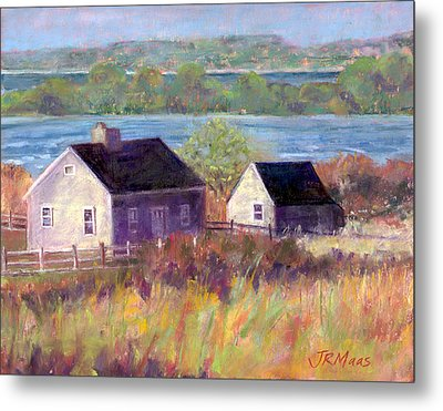 Cottages By The Bay Metal Print