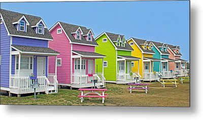 ''cottages'' Metal Print by Marion Johnson
