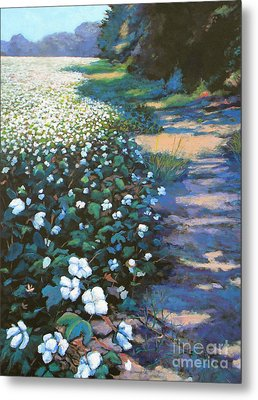 Cotton Field Metal Print by Jeanette Jarmon