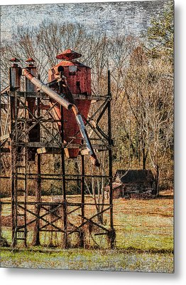 Cotton Gin In Vincent Alabama Metal Print by Phillip Burrow