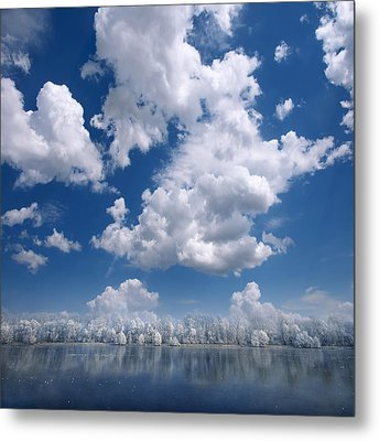 Metal Print featuring the photograph Cotton Sky by Philippe Sainte-Laudy
