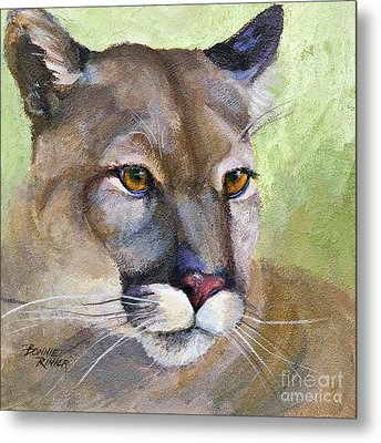 Metal Print featuring the painting Cougar 2 by Bonnie Rinier