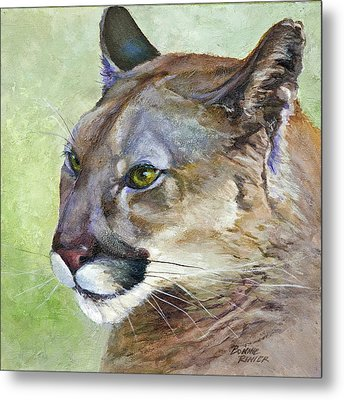 Metal Print featuring the painting Cougar by Bonnie Rinier