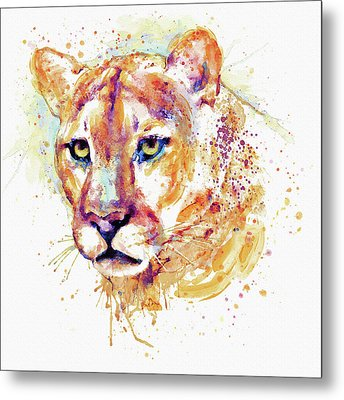 Cougar Head Metal Print by Marian Voicu