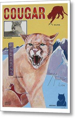 Cougar -visualisation Metal Print by John Keaton