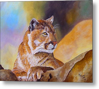 Cougar Wildlife Metal Print