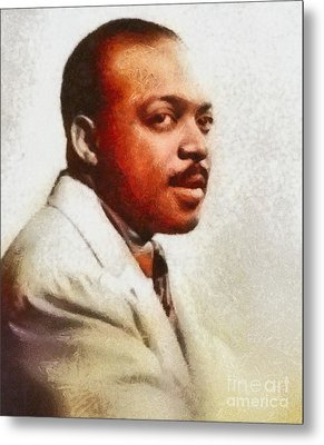 Count Basie, Music Legend Metal Print by Mary Bassett