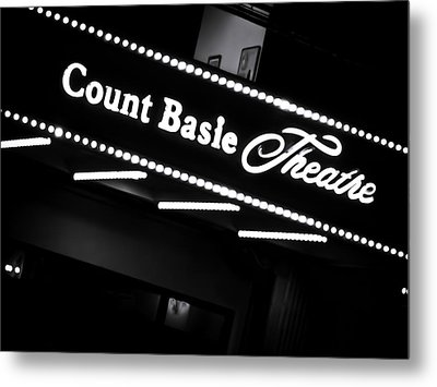 Count Basie Theatre In Lights Metal Print by Colleen Kammerer