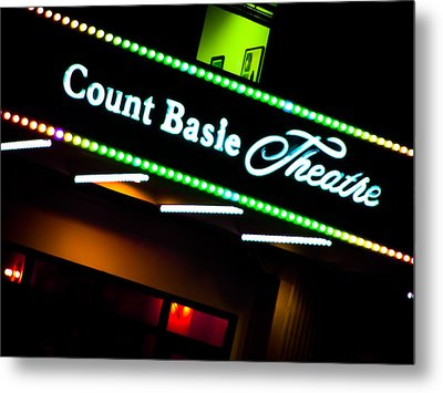 Count Basie Theatre Lights In Color Metal Print by Colleen Kammerer