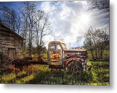 Country Afternoon Metal Print by Debra and Dave Vanderlaan