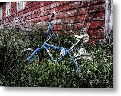 Metal Print featuring the photograph Country Bicycle by Brad Allen Fine Art