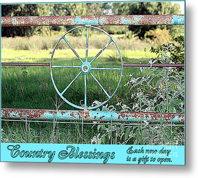 Country Blessings Metal Print by Kathy  White