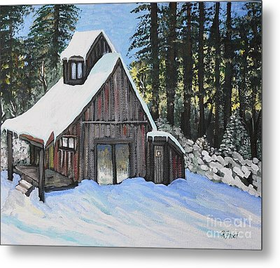 Country Cabin Metal Print by Reb Frost