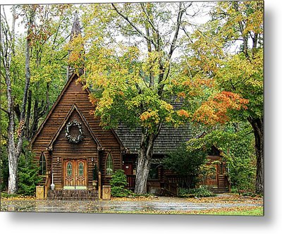 Country Chapel Metal Print by Jerry Battle