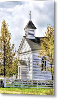 Country Church At Old World Wisconsin Metal Print by Christopher Arndt