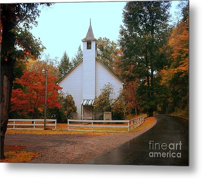 Metal Print featuring the photograph Country Church by Brenda Bostic
