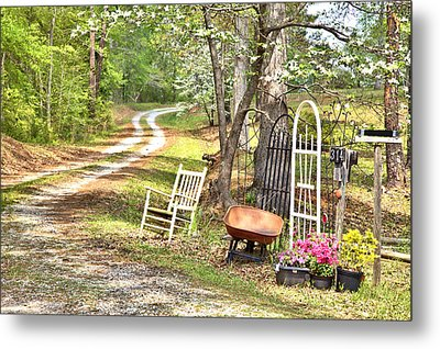 Metal Print featuring the photograph Country Driveway In Springtime by Gordon Elwell