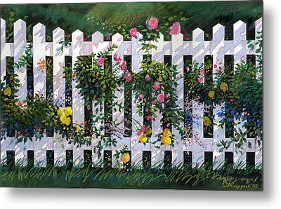 Country Fence Metal Print by Valer Ian