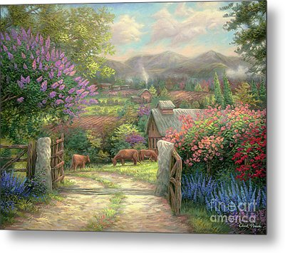 Country Gate Metal Print by Chuck Pinson