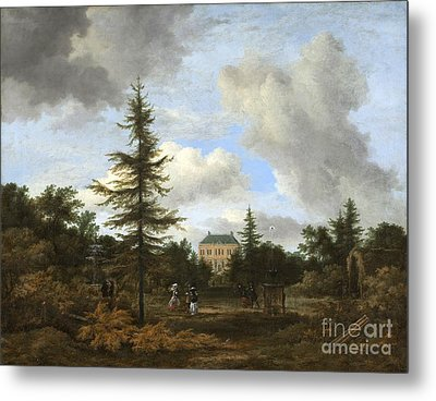 Country House In A Park Metal Print by Celestial Images