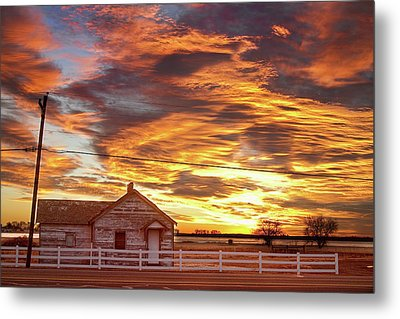 Country House Sunset Longmont Colorado Boulder County Metal Print by James BO  Insogna