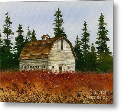 Metal Print featuring the painting Country Landscape by James Williamson