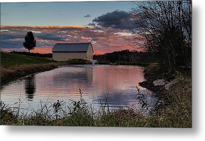 Metal Print featuring the photograph Country Living Sunset by Lara Ellis