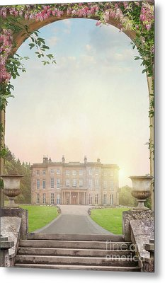 Metal Print featuring the photograph Country Mansion At Sunset by Lee Avison