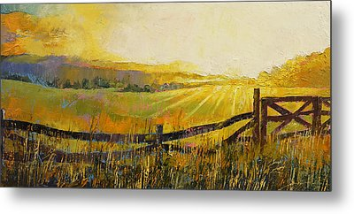 Country Meadow Metal Print by Michael Creese