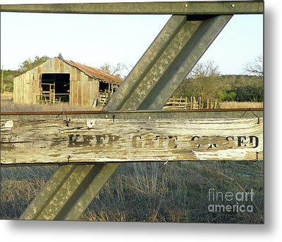 Metal Print featuring the photograph Country Quiet by Joe Jake Pratt