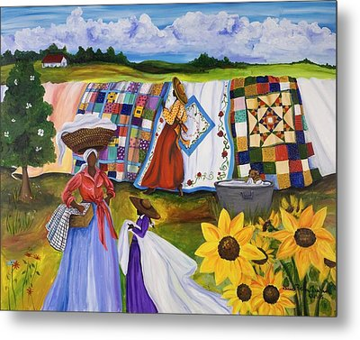 Country Quilts Metal Print by Diane Britton Dunham