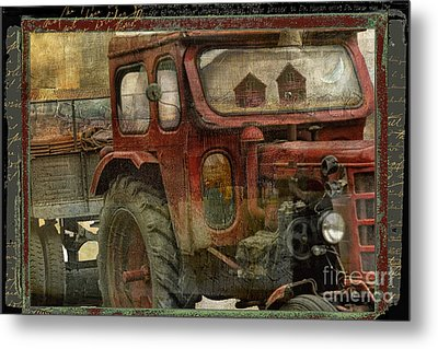 Country Reflections Metal Print by Mindy Sommers