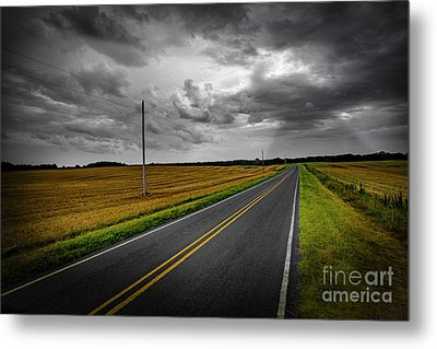 Metal Print featuring the photograph Country Road by Brian Jones