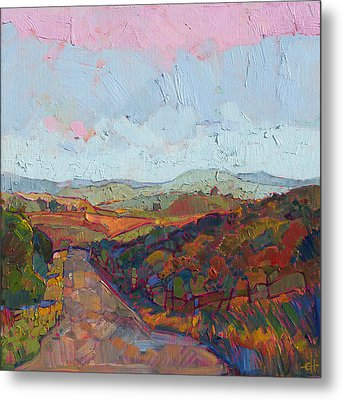Country Road Metal Print by Erin Hanson
