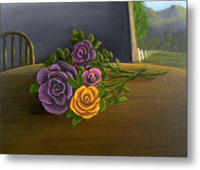 Country Roses Metal Print