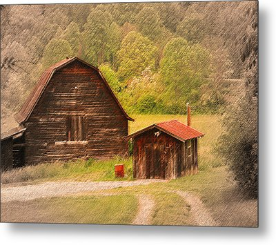 Country Shack Metal Print by Itai Minovitz
