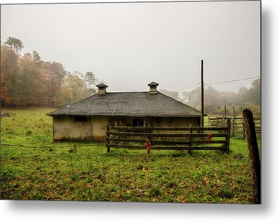 Country Shed Metal Print by Terry Davis
