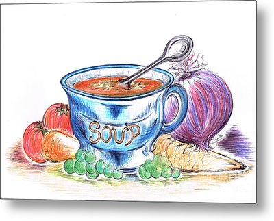 Countryside Harvest Soup Metal Print