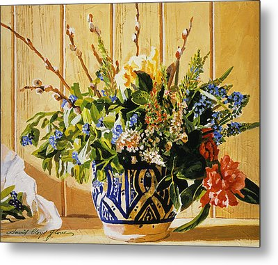 Country Spring Still Life Metal Print