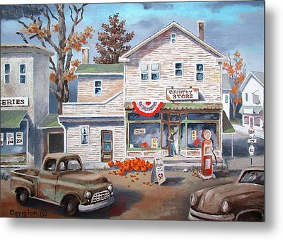 Country Store Metal Print by Tony Caviston