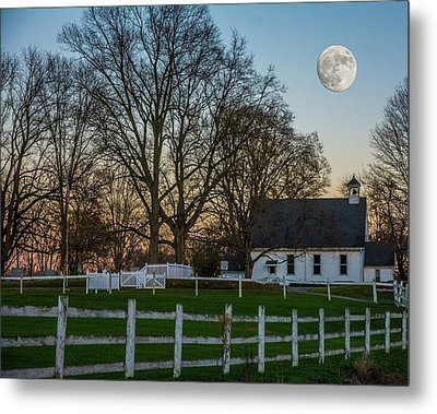 Country Super Moon Metal Print