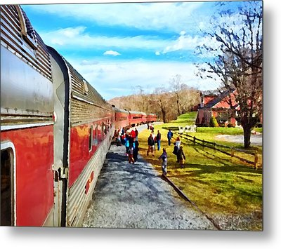 Country Train Depot Metal Print