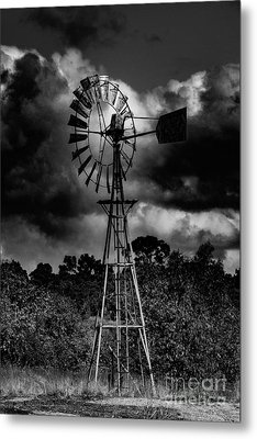 Country Windmill Metal Print