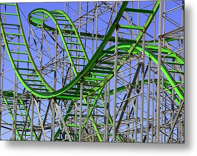 County Fair Thrill Ride Metal Print by Joe Kozlowski