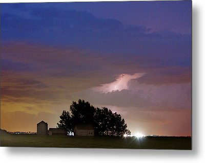 County Line 1 Northern Colorado Lightning Storm Metal Print by James BO  Insogna