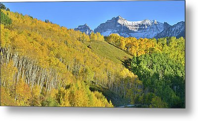 Metal Print featuring the photograph County Road 7 Fall Colors by Ray Mathis