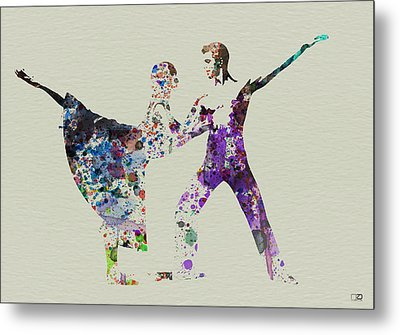 Couple Dancing Ballet Metal Print by Naxart Studio