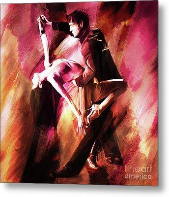 Couple Tango Art Metal Print