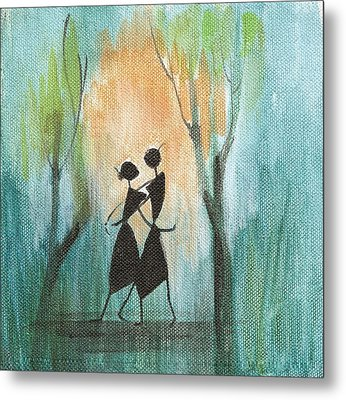 Couples Delight Metal Print by Chintaman Rudra
